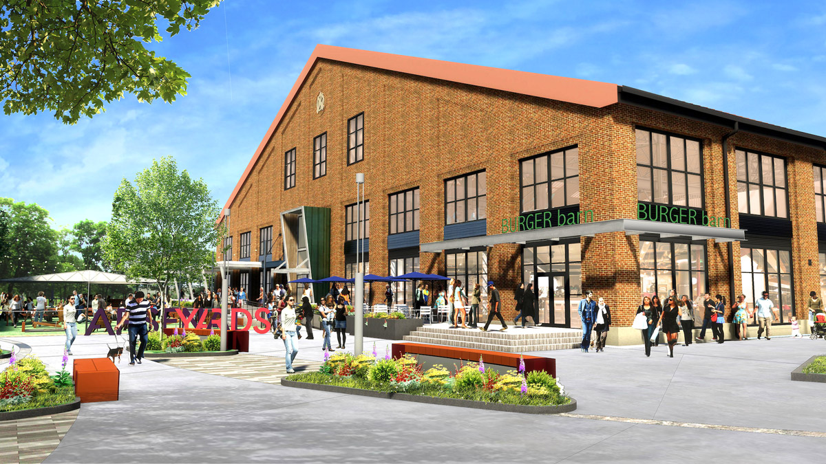 Rendering of retail space at Arsenal Yards