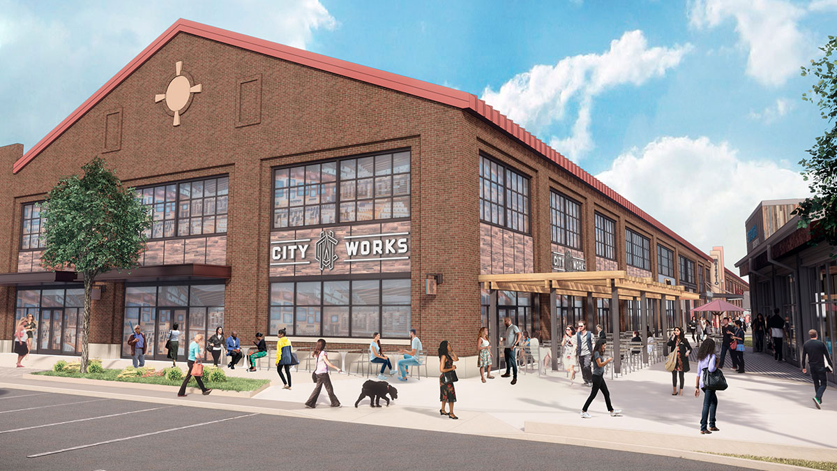 City Works Eatery and Pour House at Arsenal Yards rendering