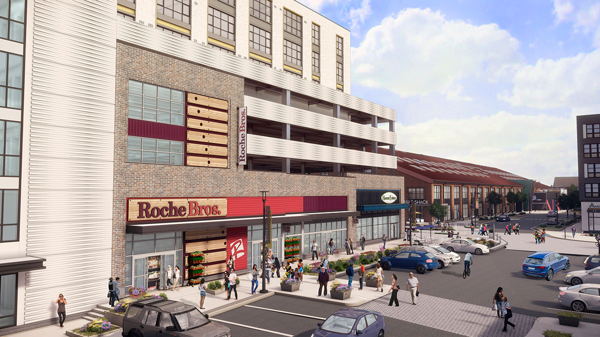Rendering of Roche Bros at Arsenal Yards