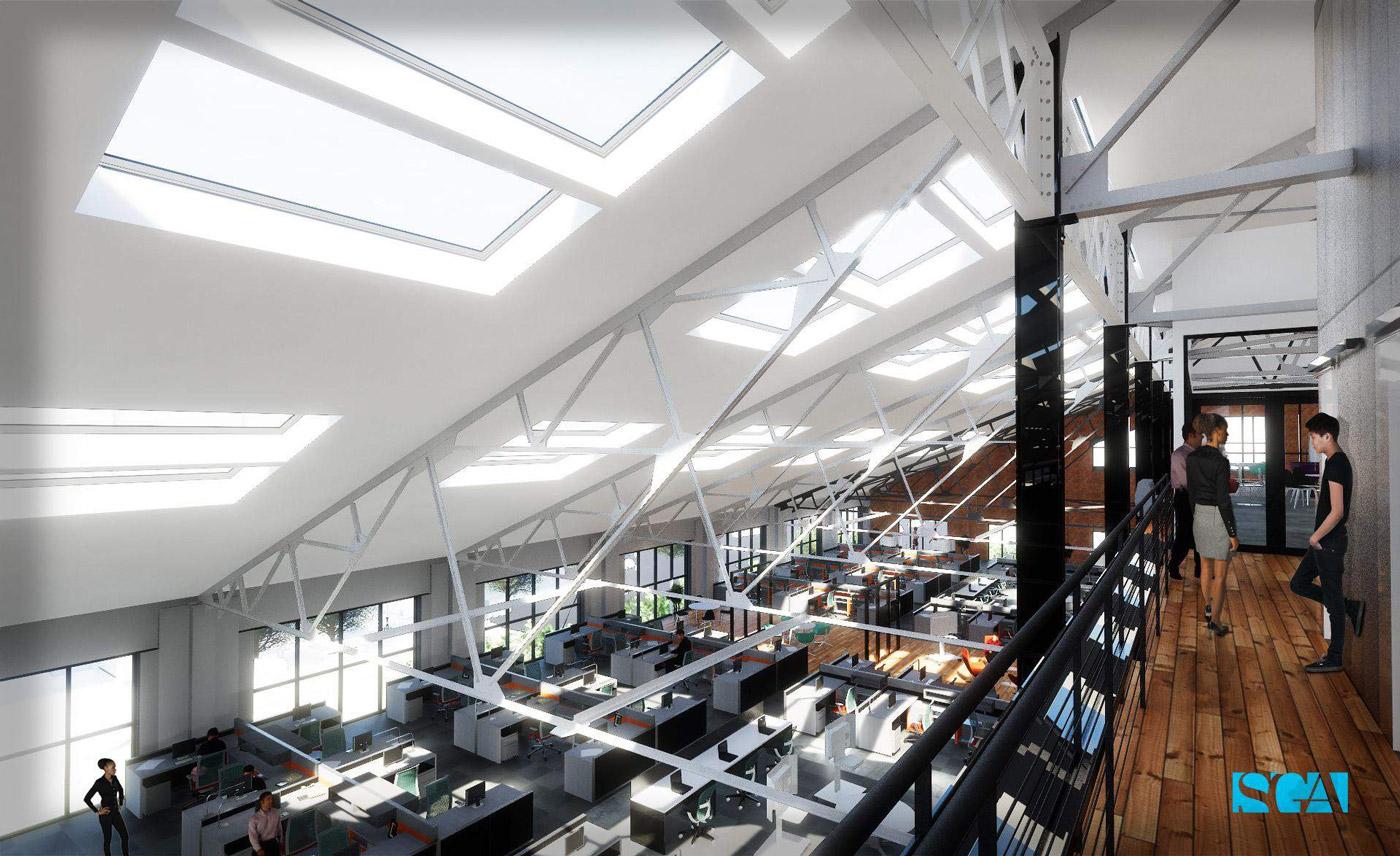 Arsenal Yards YardWorks loft rendering