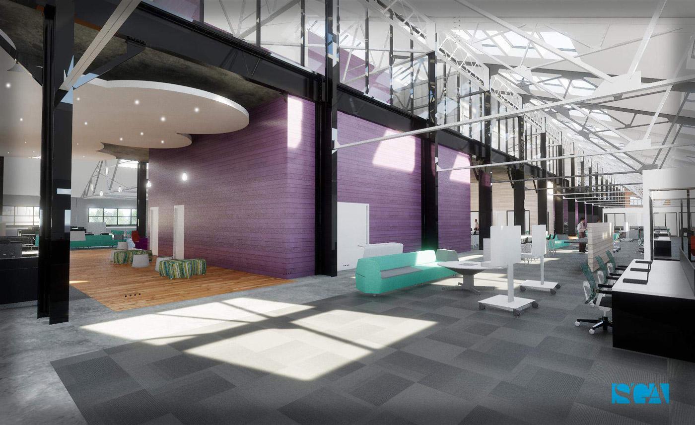Arsenal Yards YardWorks office space rendering