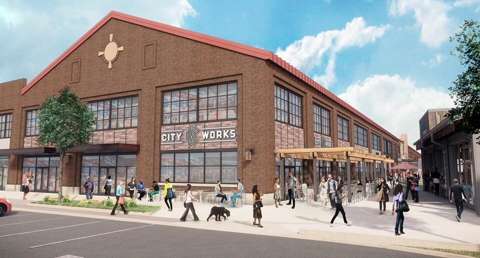 Rendering of City Works at Arsenal Yards