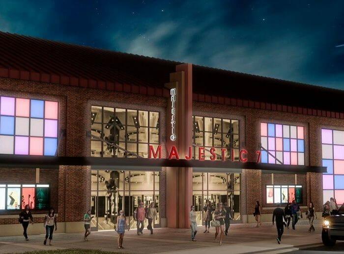 Majestic 7 cinema entrance