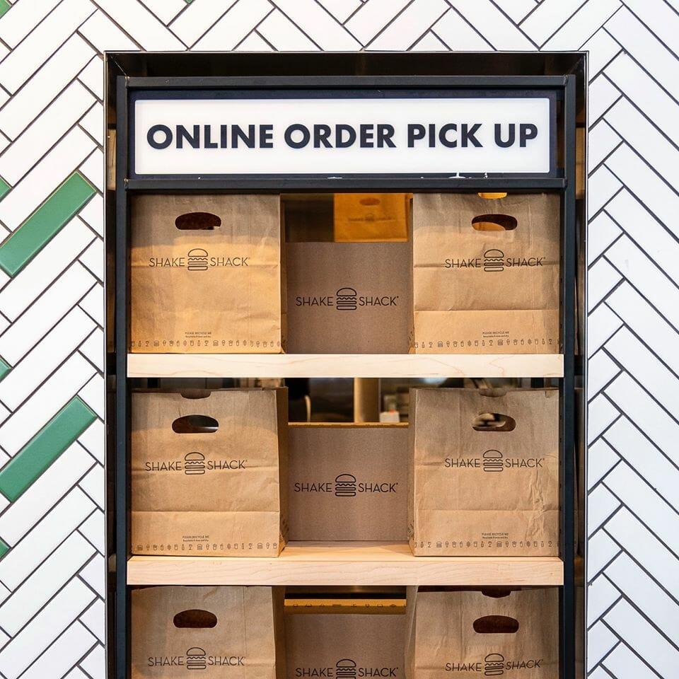 Online order pickup at Shake Shack