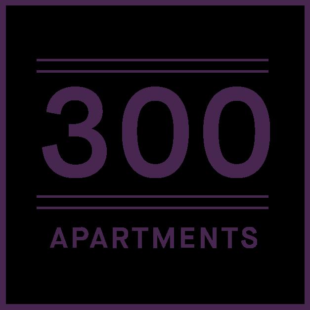 300 apartments