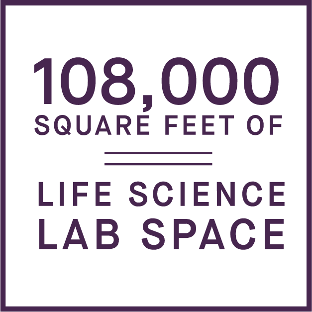 108,000 square feet of life science lab space