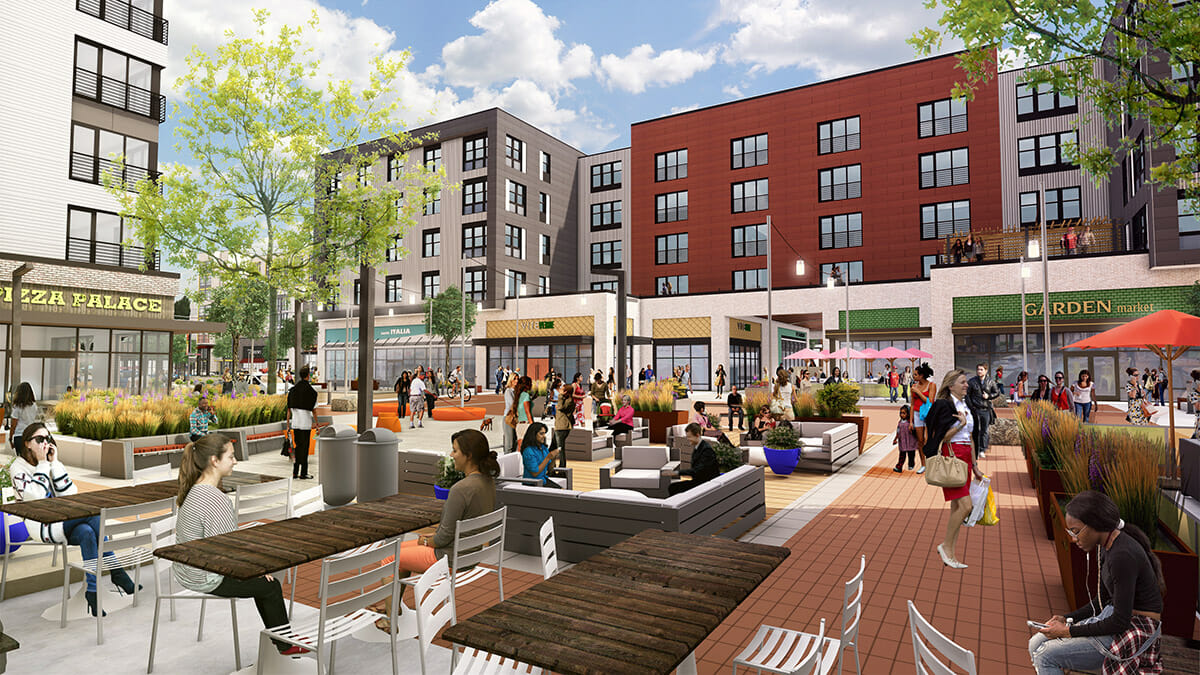 Rendering of Bond Square in Arsenal Yards
