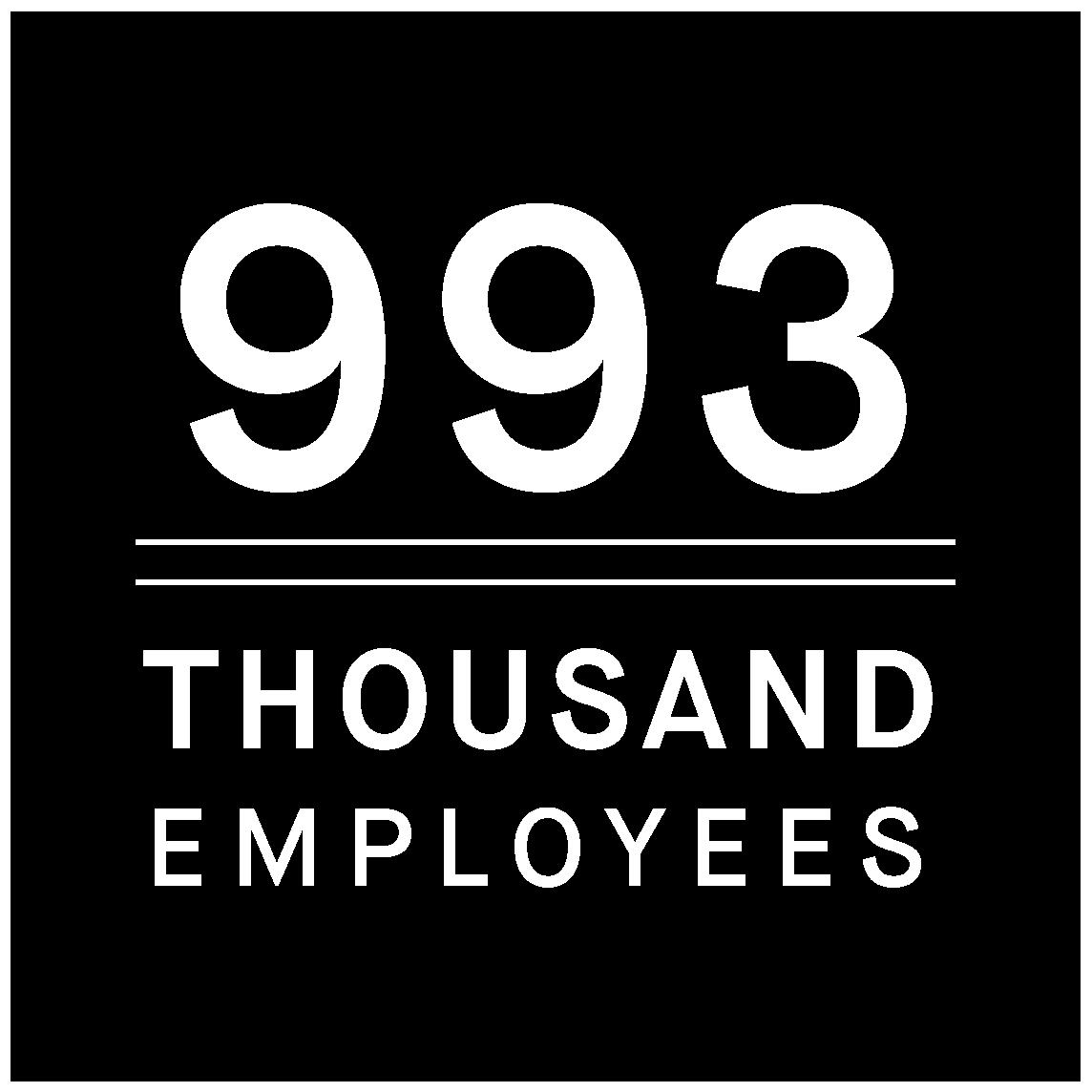 993,000 employees